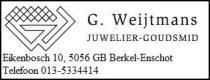 G. Weijtmans Juwelier - Goudsmit